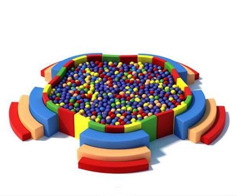 彩色塑料波波球3D模型【ID:515026803】
