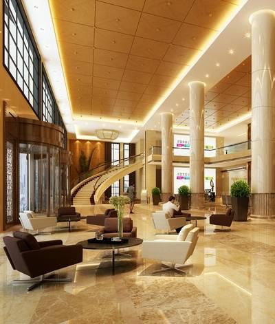 现代酒店休息区3D模型【ID:515069261】