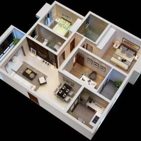 家装样板房3D模型【ID:515098712】
