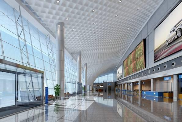 现代机场3D模型【ID:515206487】