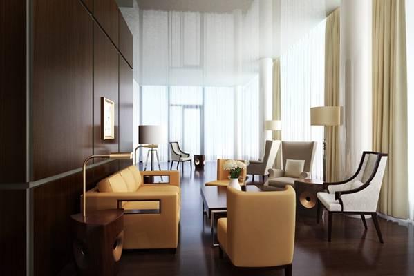 现代酒店休息区3D模型【ID:515223269】