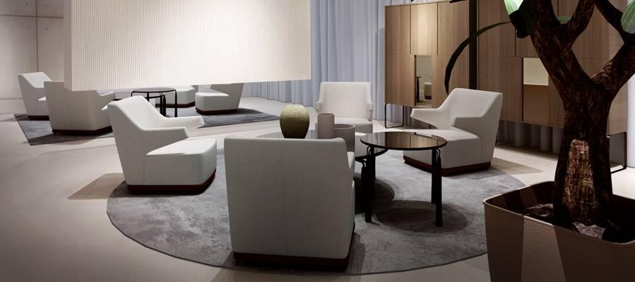 现代酒店休息区3D模型【ID:515231295】
