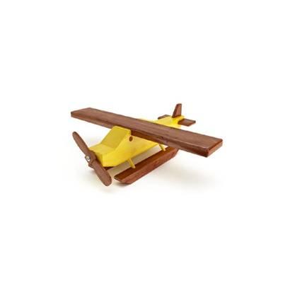 棕色木艺玩具飞机3D模型【ID:515249020】