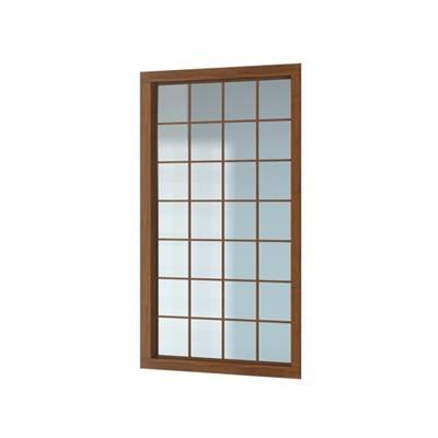 现代长方形木艺落地窗3D模型【ID:515251167】