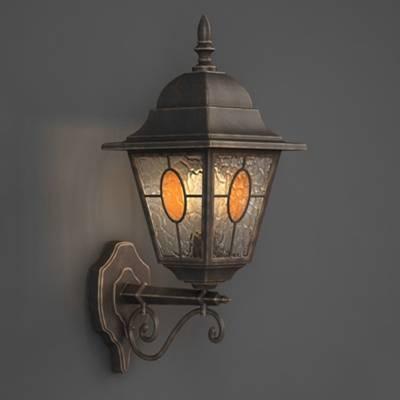 欧式古典金属壁灯3D模型【ID:515257916】
