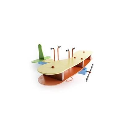 木艺玩具飞机3D模型【ID:515266047】