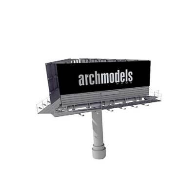 广告牌3D模型【ID:515291632】