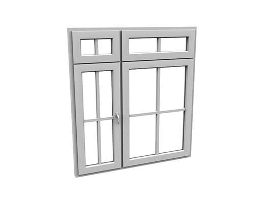 现代长方形玻璃窗户组合3D模型【ID:515336081】