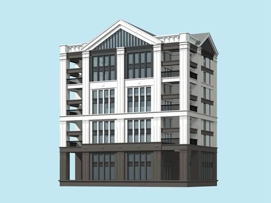 户外欧式建筑23D模型【ID:515353508】