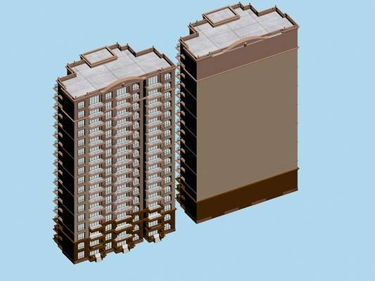 户外欧式建筑63D模型【ID:515353513】