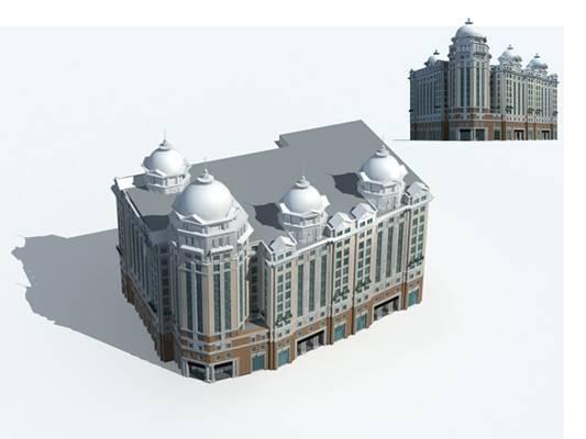 户外欧式建筑763D模型【ID:515354558】