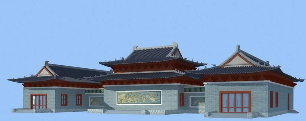 户外中式古建筑513D模型【ID:515355669】