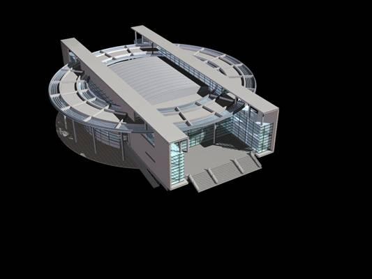 户外艺术风格建筑23D模型【ID:515356470】