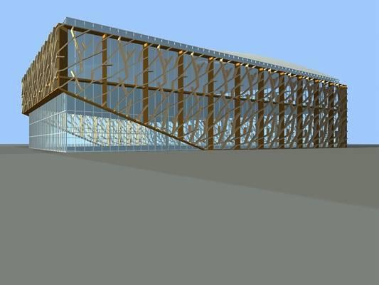 户外艺术风格建筑103D模型【ID:515356476】