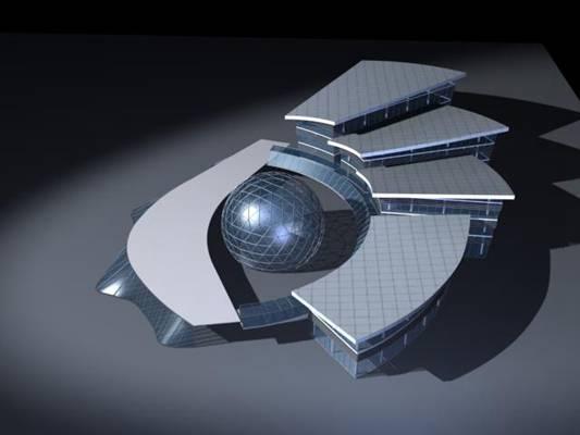 户外艺术风格建筑403D模型【ID:515357420】