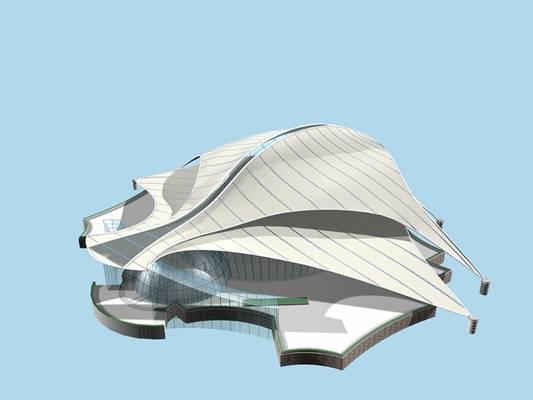 户外艺术风格建筑523D模型【ID:515357436】