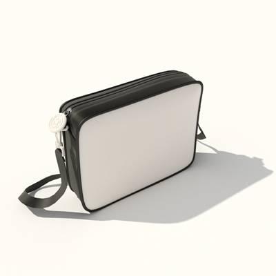 白色皮质背包3D模型【ID:515430936】
