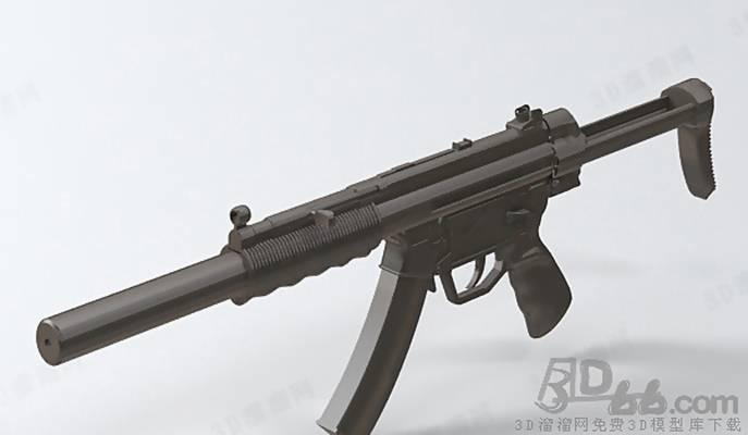 玩具枪13D模型【ID:517260213】