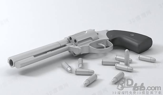 玩具枪33D模型【ID:517260216】