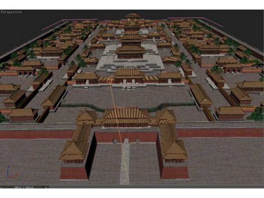 中式古建筑23D模型【ID:517290677】