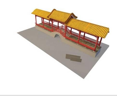 中式古建筑43D模型【ID:517290682】