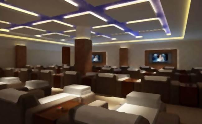 酒店休息区63D模型【ID:517354217】