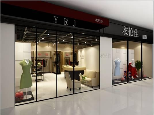 现代白色服装专卖店3D模型【ID:517496448】