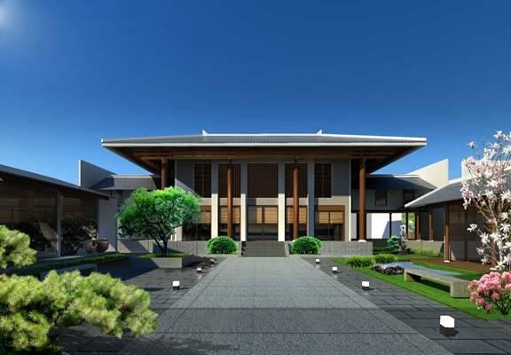 中式古建筑3D模型【ID:517503678】