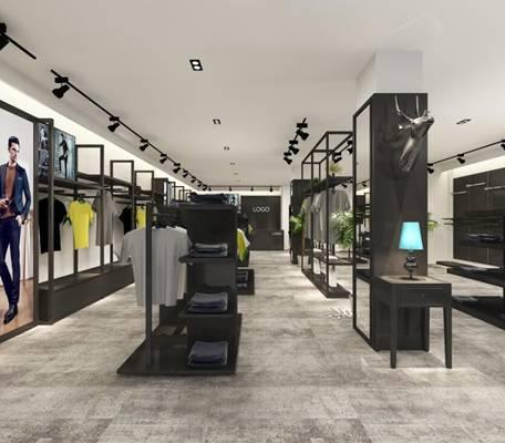 现代服装专卖店3D模型【ID:517514462】
