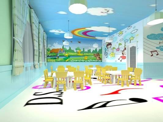 幼儿园3D模型【ID:517529184】