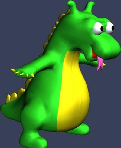 绿色公仔3D模型【ID:517530451】