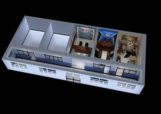 现代审讯室3D模型【ID:517530564】
