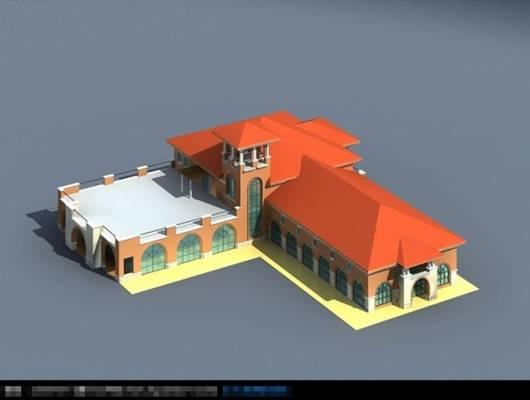 艺术风格建筑3D模型【ID:517574467】
