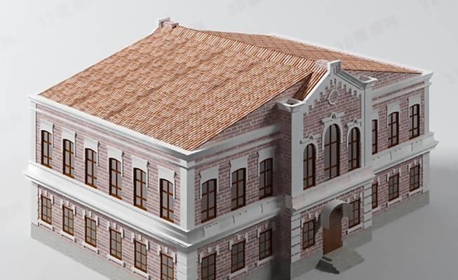 欧式建筑3D模型【ID:517582580】