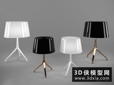 现代台灯国外3D模型【ID:829649968】
