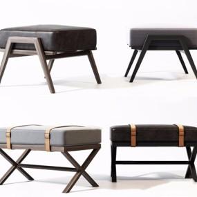 新中式凳子组合3D模型【ID:427987313】