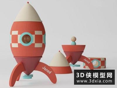 儿童火箭玩具国外3D模型【ID:129721924】