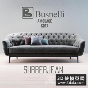 現代沙發國外3D模型【ID:729307679】
