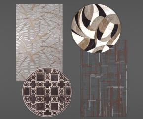 现代地毯组合3D模型【ID:427795019】