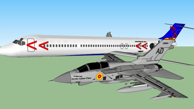箭头航空公司禁止从乐高岛领空起飞SU模型【ID:839751536】