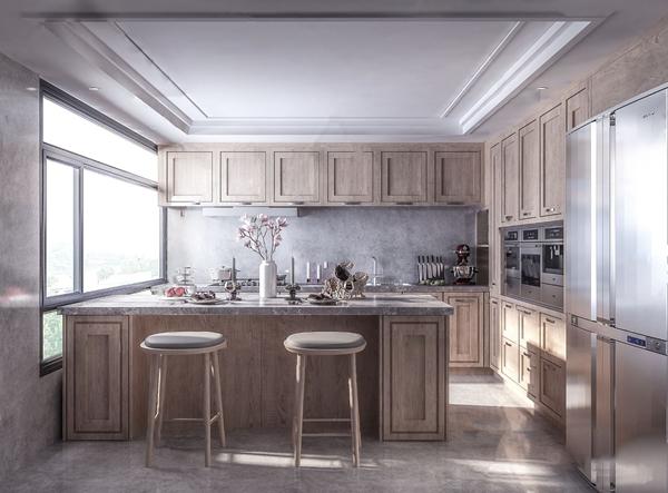 現代廚房3D模型【ID:546658384】