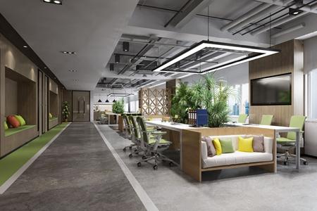 现代办公室休息区3D模型【ID:820799158】