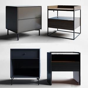 現代床頭柜組合3D模型【ID:920830626】