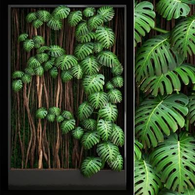 现代植物墙3D模型【ID:127766182】