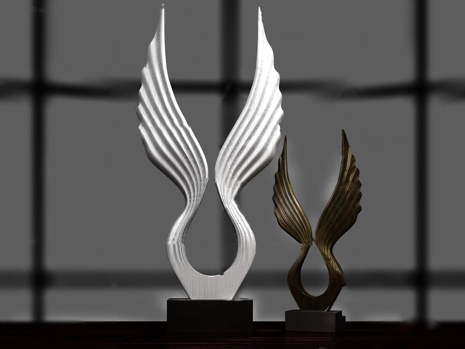 现代艺术雕塑摆件3D模型【ID:343426196】