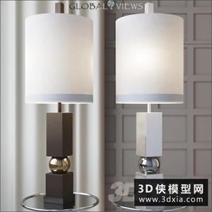 现代台灯国外3D模型【ID:829306968】