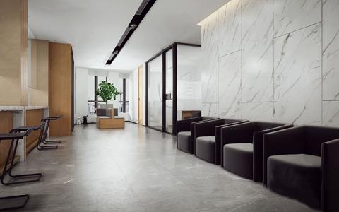 现代工装接待厅等候区3D模型【ID:820831103】