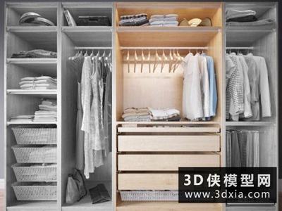 現代衣服組合國外3D模型【ID:929390616】