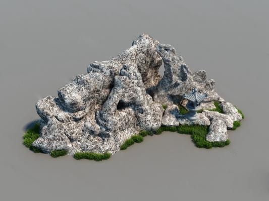 现代石头3D模型【ID:124896224】