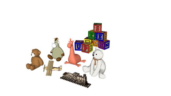 布娃娃玩具SU模型【ID:639757703】